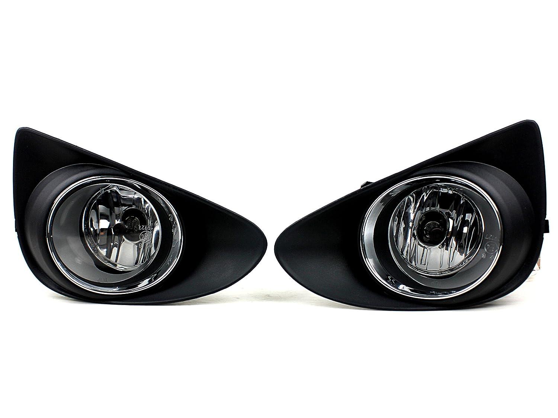 Huaheeフロント車フォグランプライトfor Toyota Yaris L / Leハッチバック2012 ~ 2014 / Vitz 2013 ( 1ペア)ライトアセンブリフォグ配線キット含ま電球: h11 – 12 V-55 W B06WLPRB9S