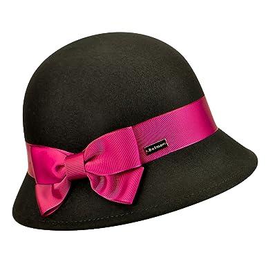eee0f1d47 Betmar Women Emma Wool Felt Cloche Black One Size Fits Most at ...