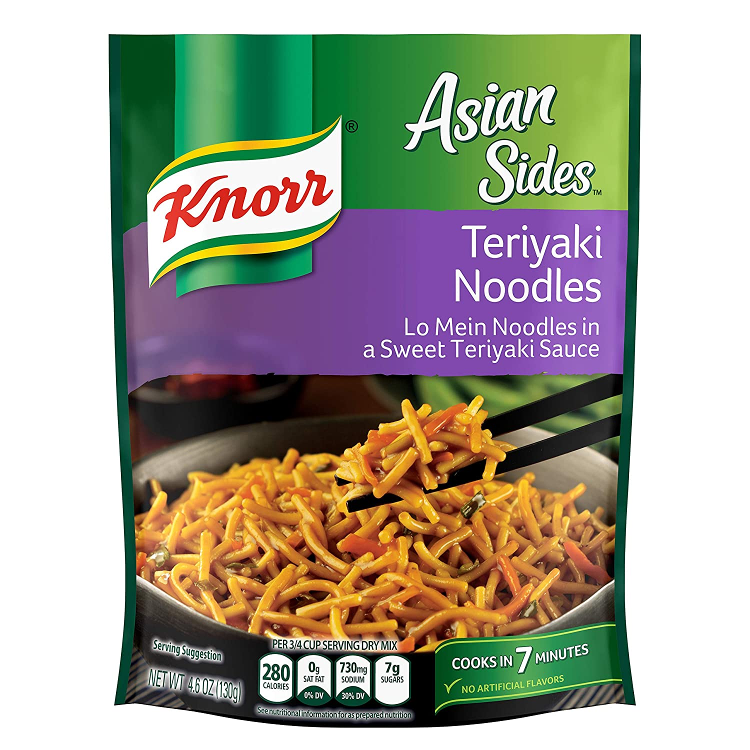 Knorr Asian Pasta Side Dish, Teriyaki Noodles, 4.6 oz