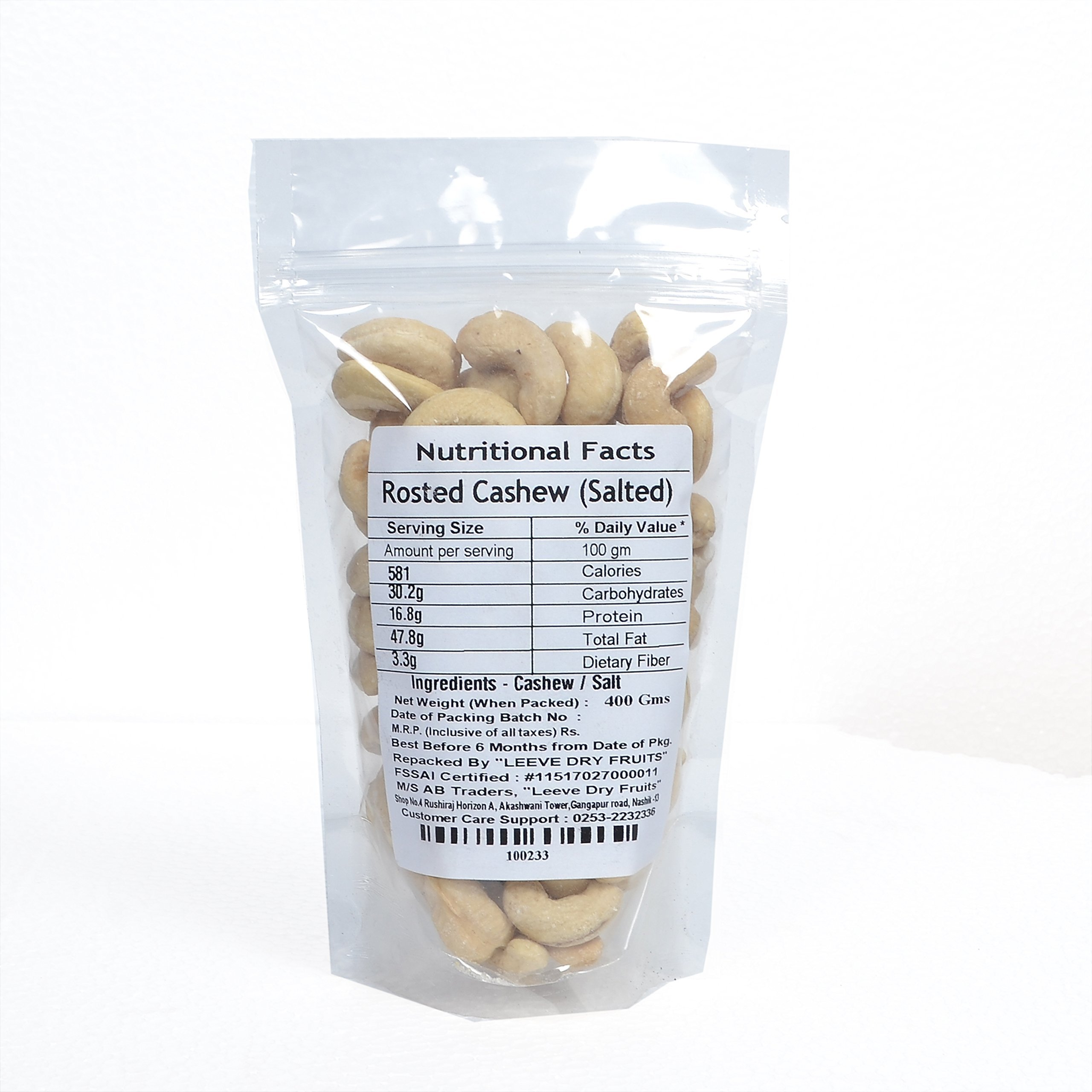 Leeve Dry Fruits Roasted Salted Flavour Cashew Namkeen Kaju - by Leeve Dry Fruits (Image #2)