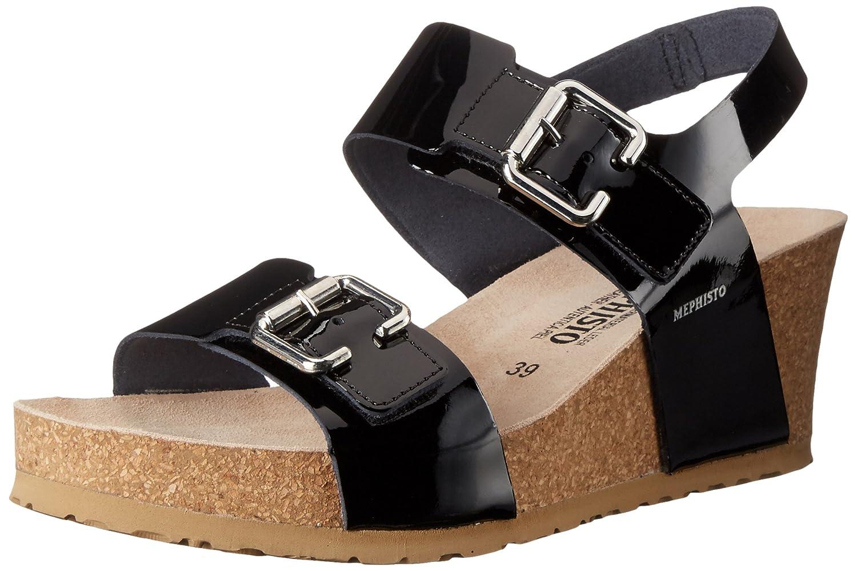 Mephisto Women's Lissandra Platform Dress Sandal B014IC0PUA 9 B(M) US|Black Patent