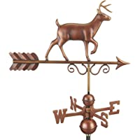 Good Directions 1977BRN Proud Buck Weathervane, Pure Copper Hand Finished Bronze Patina