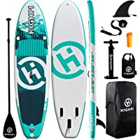 Highpi Inflatable Stand Up Paddle Boards, 10'6''x32''x6'' SUP with Accessories Backpack Anti-Slip Deck, Leash, Paddle…