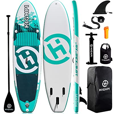 Stand Up Paddle Boards with Accessories Stable Durable Lightweight Highpi Inflatable Paddle Boards Anti-Slip Deck 106x32x6 SUP for Adults/&Youth Suitable for Yoga Fishing Traveling