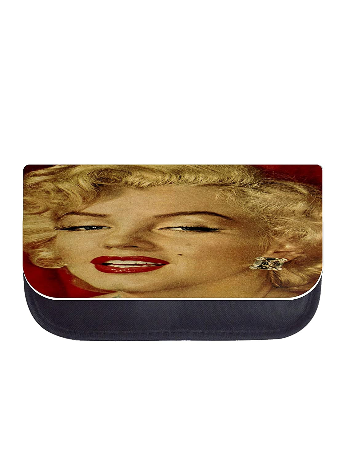 Girls Black Laptop Shoulder Messenger Bag and Small Wire Accessories Case Set Marylin Monroe