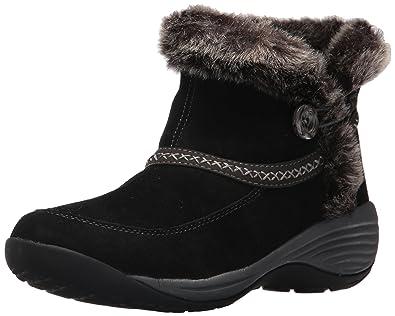 Easy Spirit Women s Icerink Ankle Bootie Black Multi Suede 8.5 ... 17a11113b096