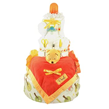 Amazon.com: Winnie the Pooh tarta de pañales en color ...