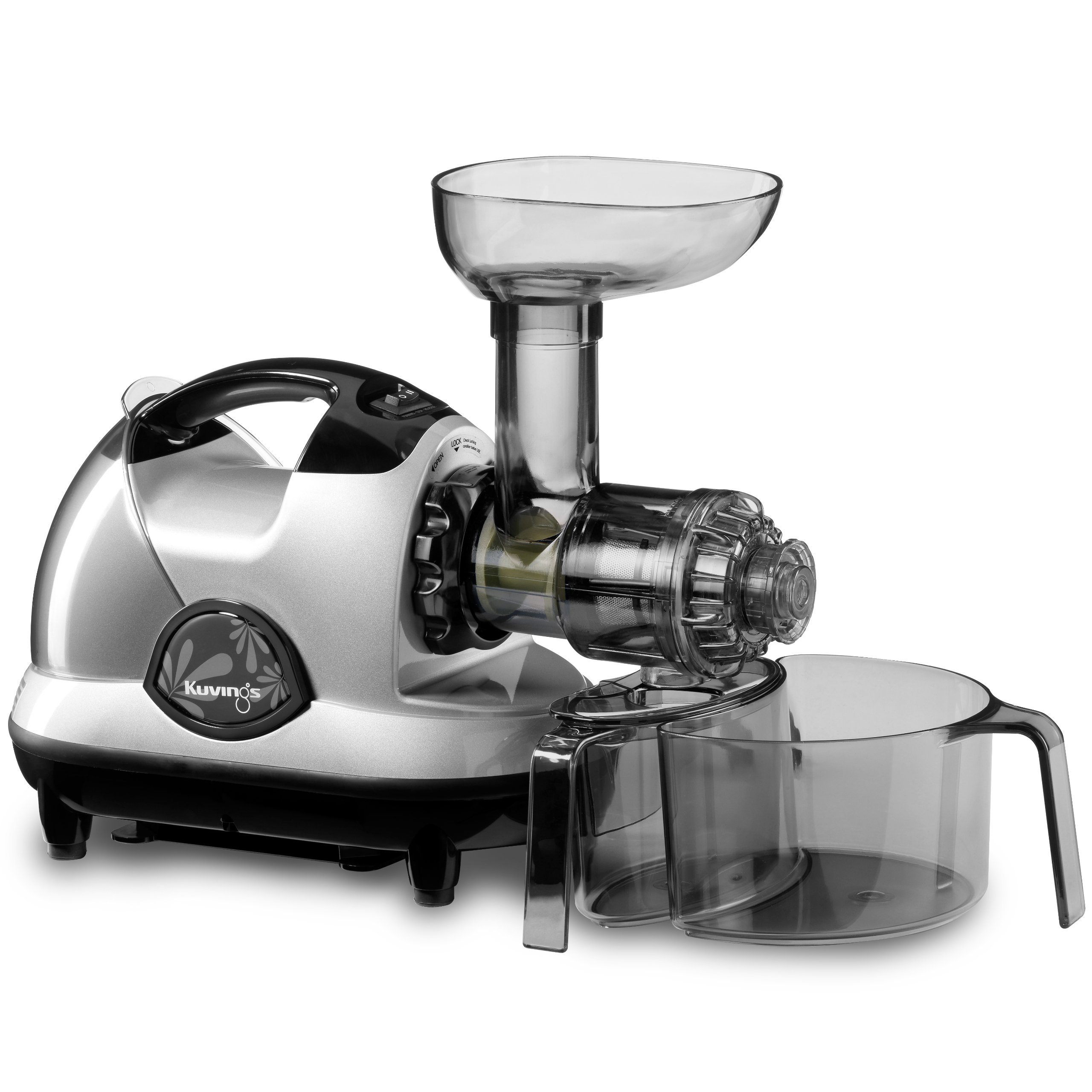 Kuvings NJE-3580U Masticating Slow Juicer, Silver by Kuvings
