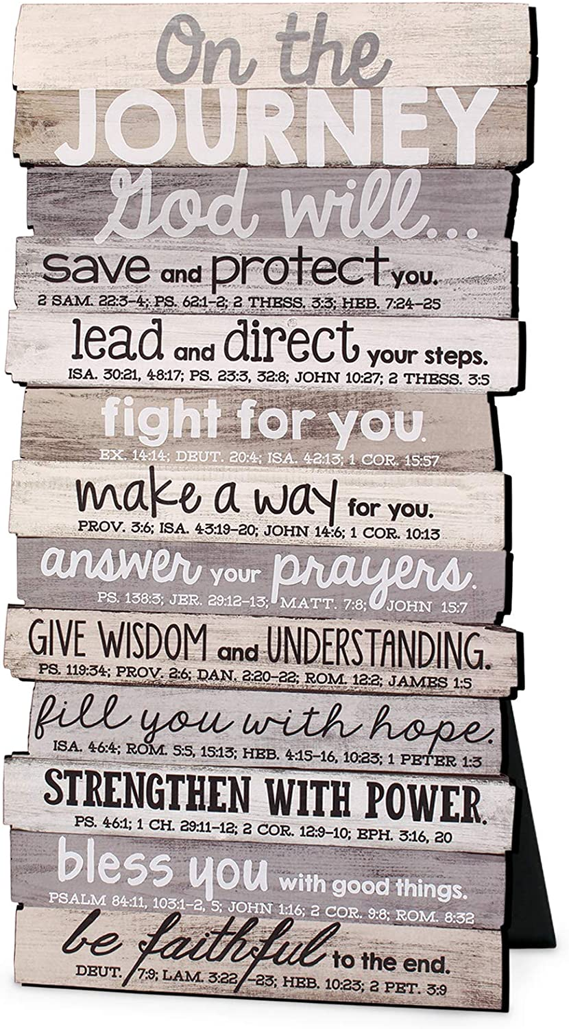 Lighthouse Christian Products On The Journey God Will Rustic Stacked Pallet 5 x 10 Wood Plaque