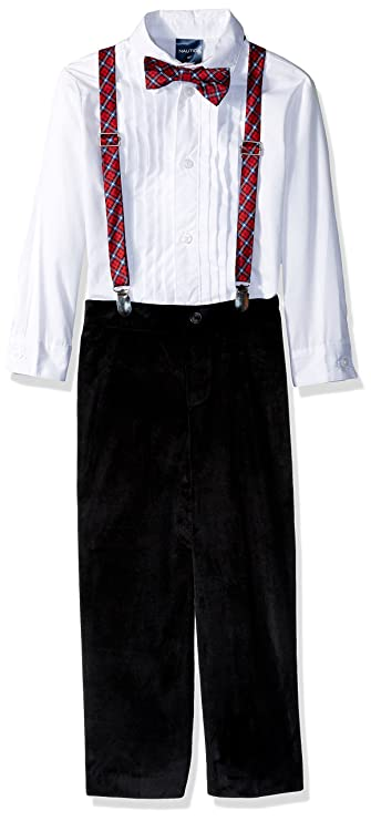 Victorian Kids Costumes & Shoes- Girls, Boys, Baby, Toddler Nautica Boys Four Piece Suspender Set $59.50 AT vintagedancer.com