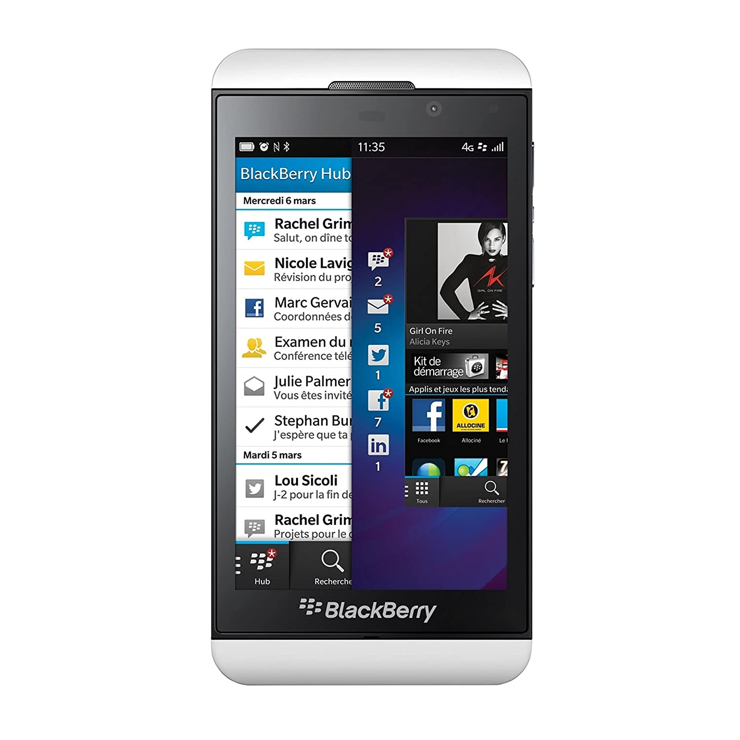 BlackBerry Z10 STL100-3 16GB Unlocked GSM 4G LTE OS 10 Cell Phone - Black
