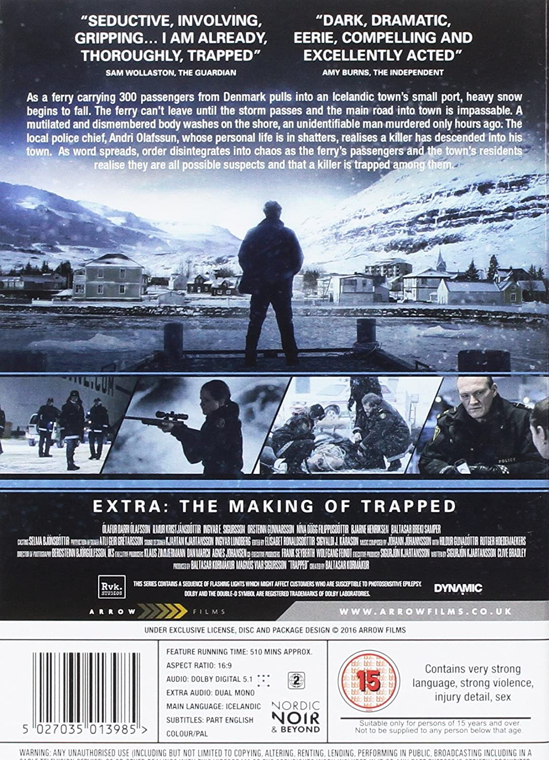 Amazon com: Trapped [UK import, Region 2 PAL format]: Ólafur Darri
