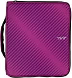 "Five Star 2"" Durable Zipper Binder, Includes 6 Pocket Expanding File, Berry Pink/Purple (72540)"