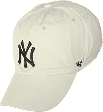 Gorra curva crema de New York Yankees MLB Clean Up de 47 Brand - Beige, Talla única: Amazon.es: Ropa y accesorios