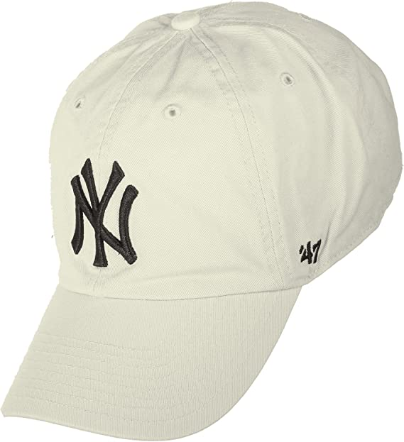 Gorra curva crema de New York Yankees MLB Clean Up de 47 Brand - Beige ddc0b372076