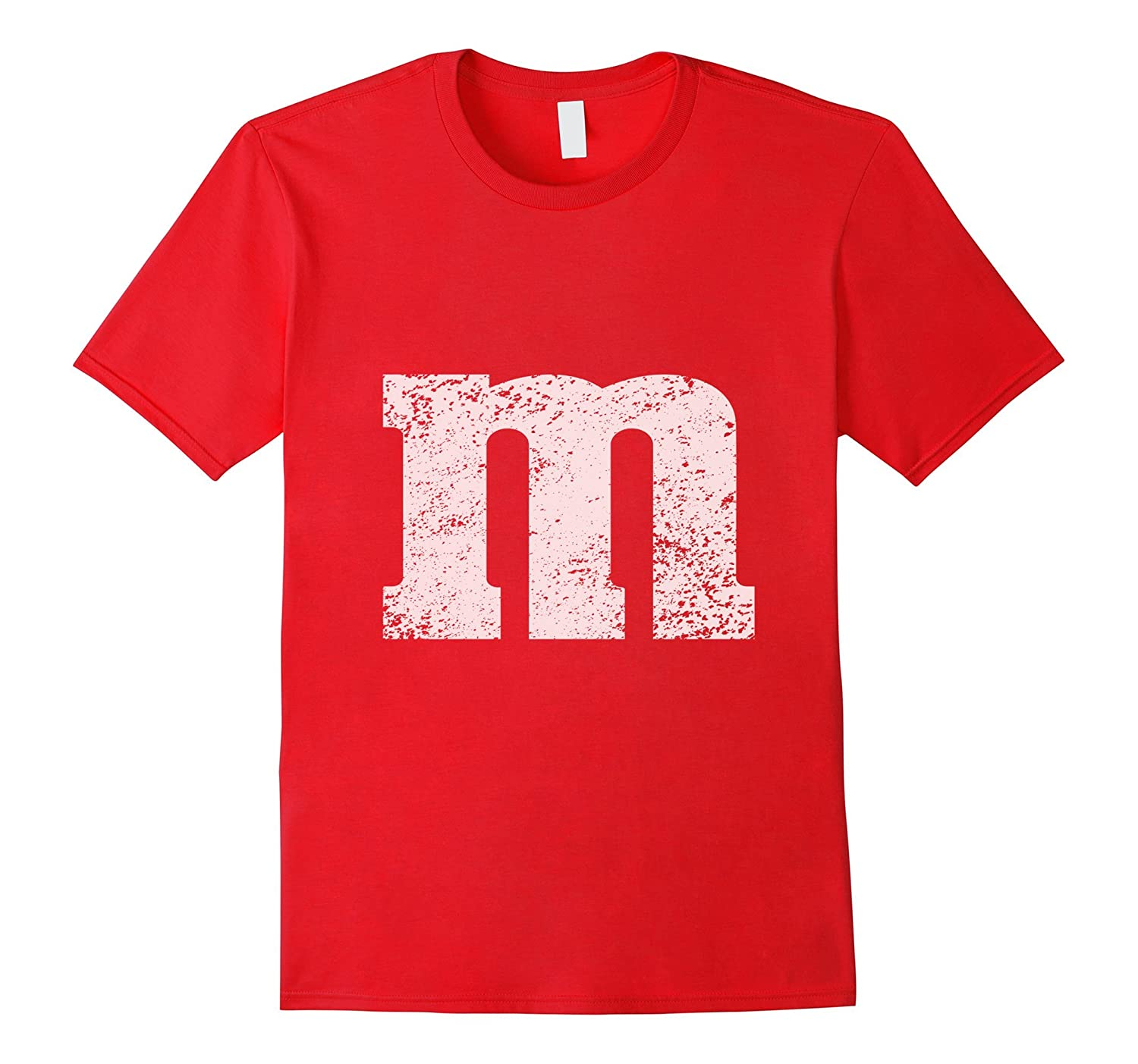 Letter M Candy T-shirt Colored Chocolate Halloween Costume-T-Shirt