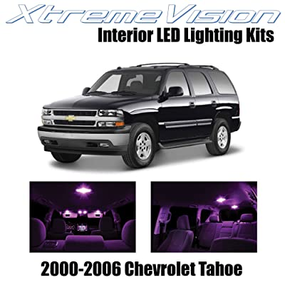 Xtremevision Interior LED for Chevy Tahoe 2000-2006 (18 Pieces) Pink Interior LED Kit + Installation Tool: Automotive