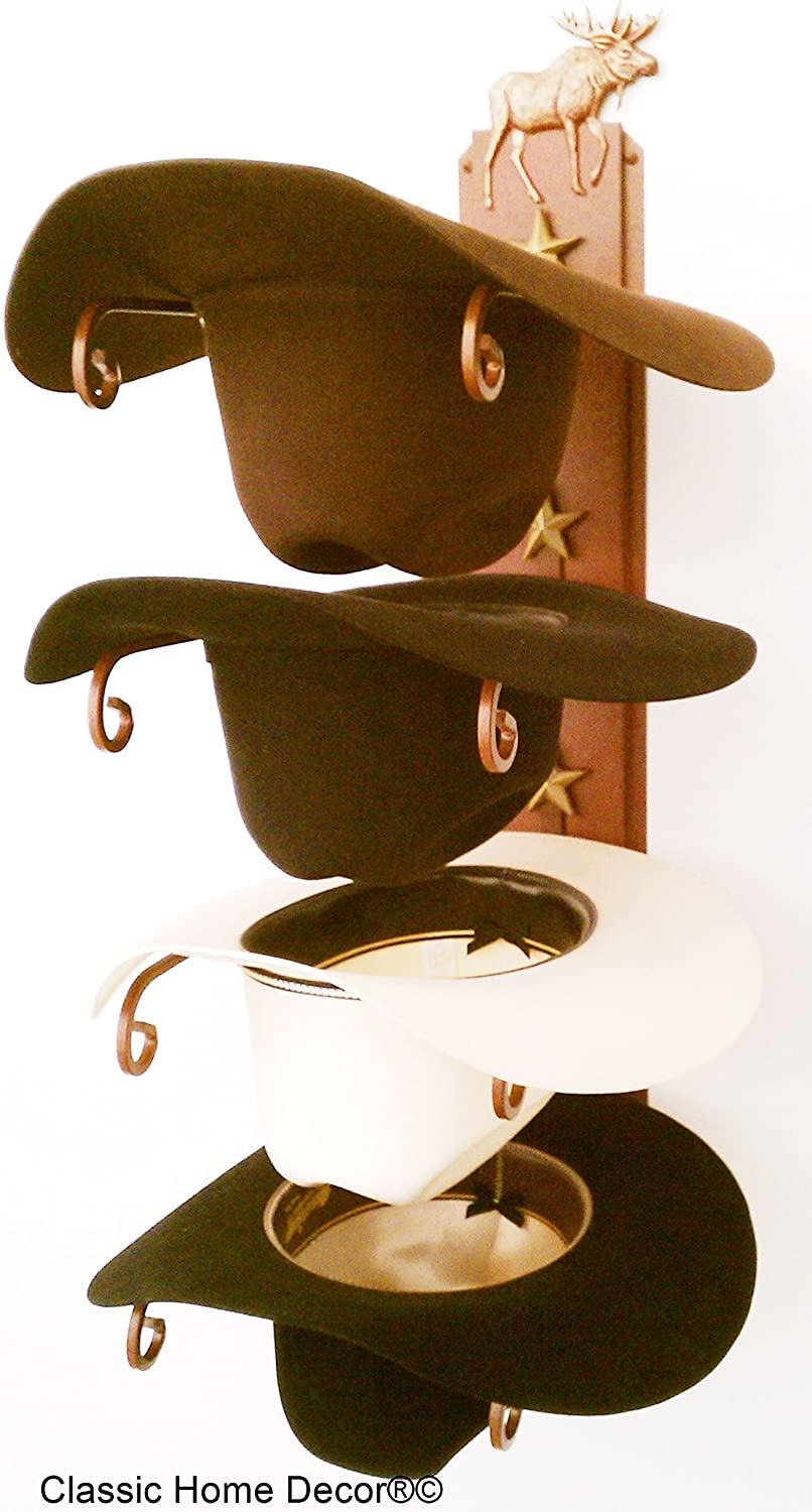 Mark Christopher Collection American Made Cowboy Hat Rack Moose