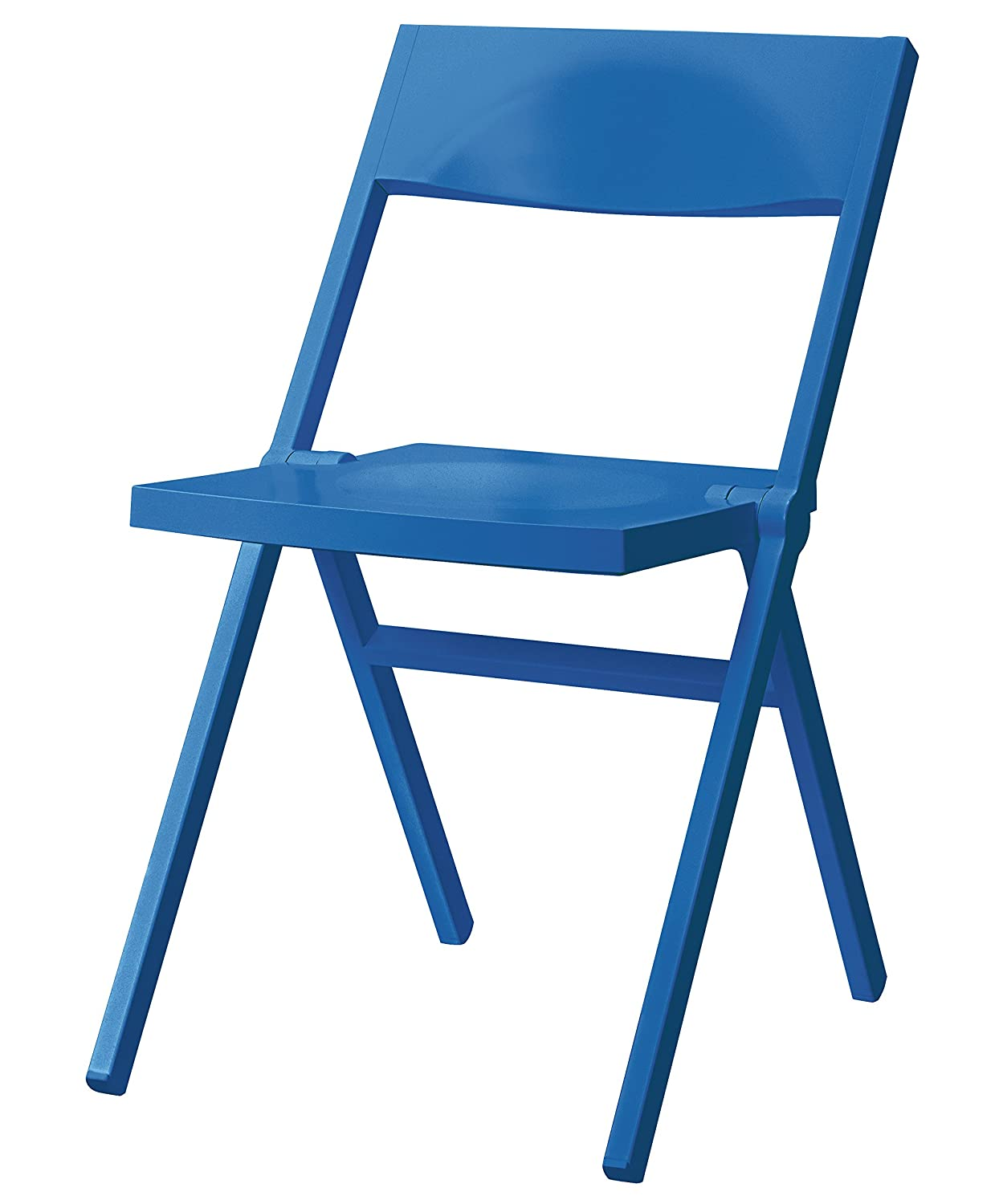 Blue Alessi Folding and Stackable Chair in PP and Fiberglass 52 x 46 x 90 cm