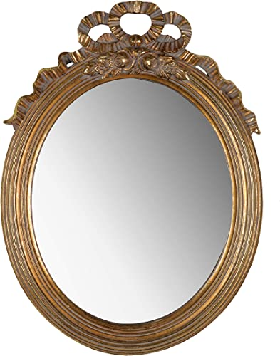 A B Home Marquis Round, Gold, 14×1.5×19 inches Mirror, Goldleaf Finish