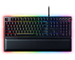 Razer Huntsman Elite Gaming Keyboard: Fastest Keyboard Switches Ever - Clicky Optical Switches - Chroma RGB Lighting - Magnet