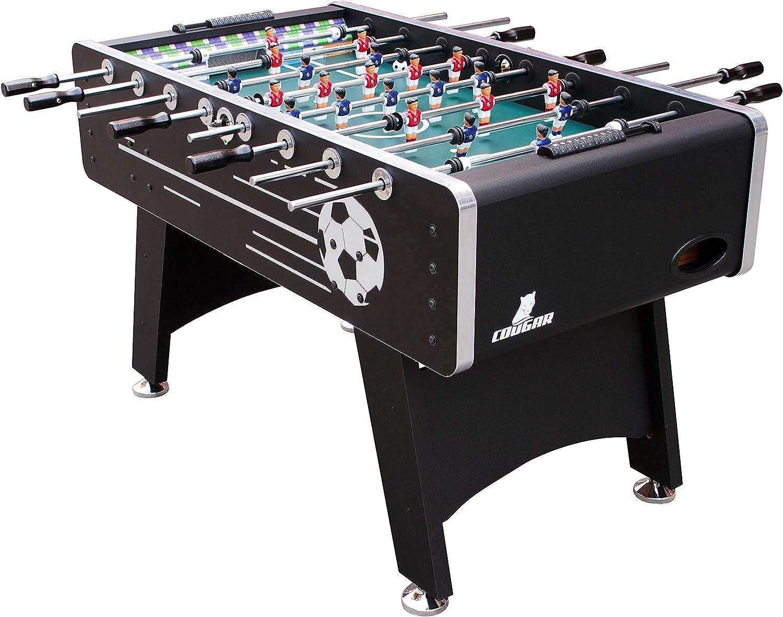 COUGAR Arena Football Table, Color Negro, 141 x 75 x 88 cm (830_A040.002.00): Amazon.es: Juguetes y juegos