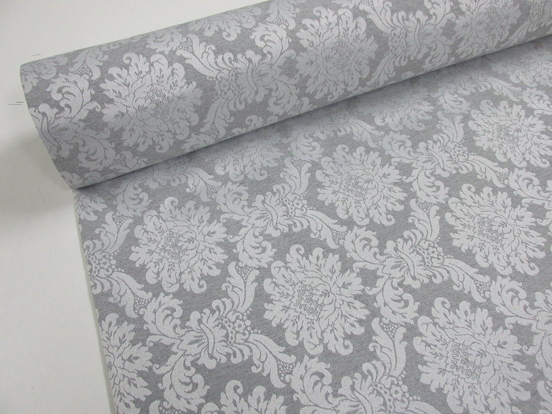 Metraje 0,50 mts. tejido Jacquard Ref. Versalles, color Plata, con ancho 2,80 mts. Confección Saymi