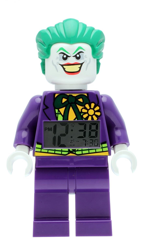 LEGO Batman Movie 9007309 Sveglia per Bambini Minifigure Joker, Viola/Verde, Plastica, Altezza: 24 cm circa, Display LCD, Bambino/Bambina, Ufficiale Display LCD LEGO(レゴ)