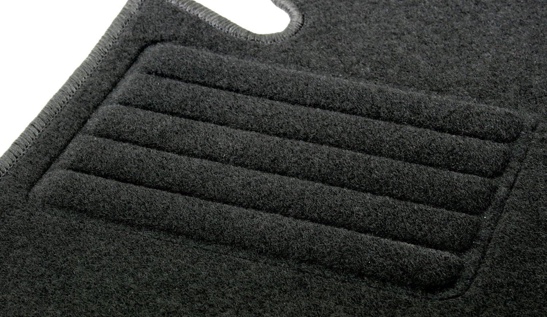 Schwarz Passform Autoteppiche 4-teilig AD Tuning HG0670 Velours Fu/ßmatten Set