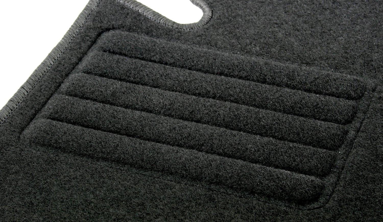 AD Tuning GmbH HG10003 Velours Passform Fu/ß matten Set Schwarz Autoteppiche Teppiche Carpet Floor mats AD Tuning GmbH /& Co. KG