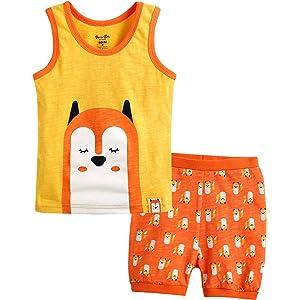 "Vaenait Baby Toddler Kids Girls Boys Sleeveless Outfit set /""Bobo Dolphin/"" 12M-7T"