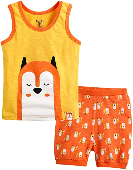 7662ab56 Vaenait baby 12M-7T Kids Girls Summer Sleeveless Pajama Set