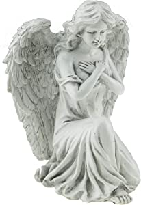 Angel Resin Garden Statue | Outdoor Indoor Figurine Gift Decoration for Home Décor, Patio, Yard, and Garden