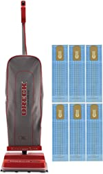 Oreck Commercial U2000R-1 120 V Red/Gray Upright Vacuum Bundle with Genuine