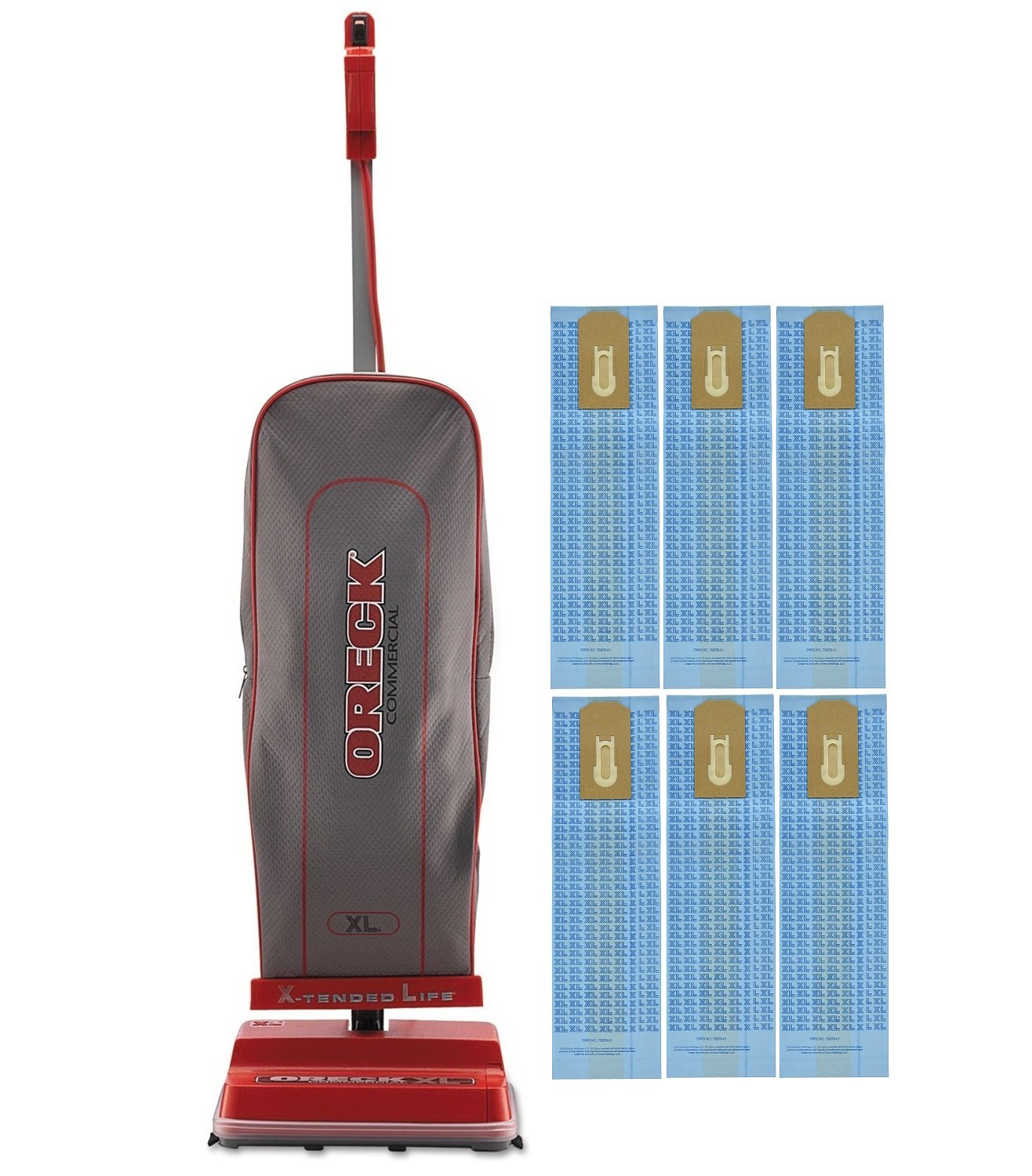 Oreck Commercial U2000RB-1 Commercial 8 Pound Upright Vacuum with EnduroLife with 6 Oreck Bags by Oreck