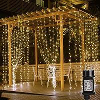 LE Cortina de Luces LED con Enchufe 3x3m