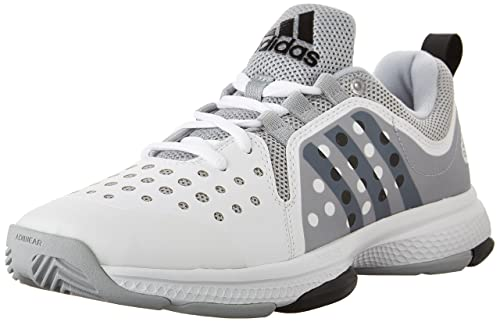 adidas Performance Men's Barricade Classic Bounce Tennis Shoes,White/Black/Clear Onix Grey,9.5 M US