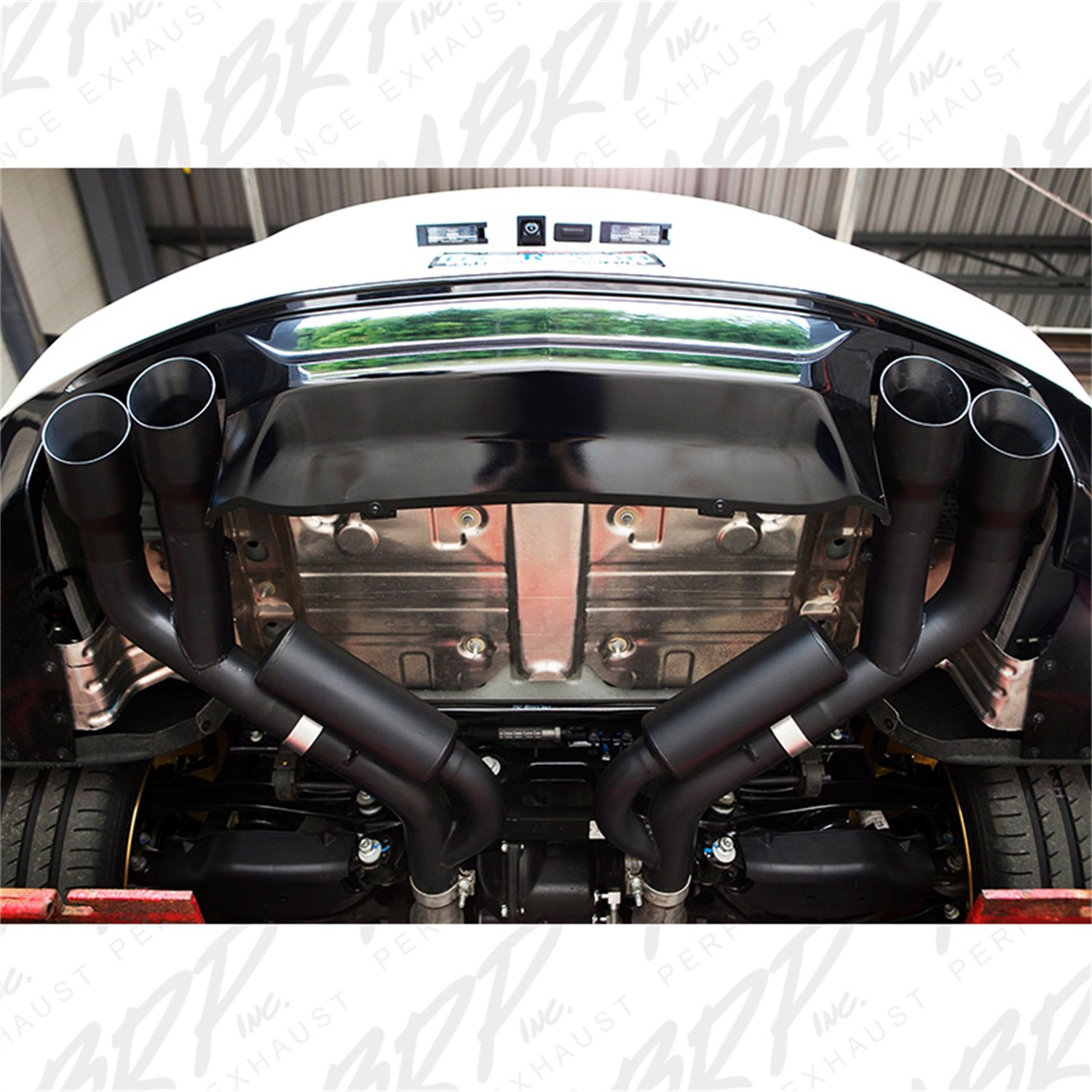 Quad 4 Dual Wall Tips Non Active Exhaust 2018-Up Ford Mustang GT MBRP S7211304 2.5 Axle Back T304