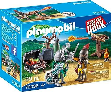 Amazon.com: PLAYMOBIL 70036 - Pack de iniciación para luchar ...