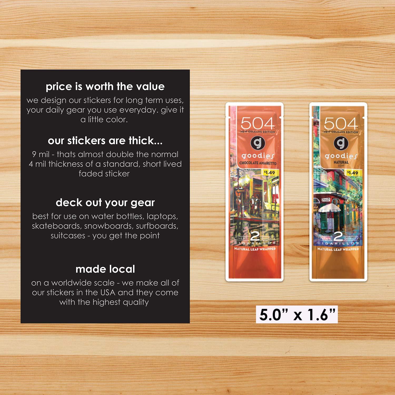 504 Goodies New Orleans Collectible Stickers 4 Pk Set IDF Premium Matte Vinyl