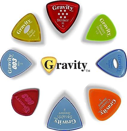 Gravity Picks: Picos de guitarra acrílica con biseles pulidos para ...