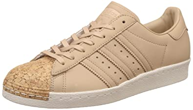 adidas Originals Women's Superstar 80S Cork W Stpanu And Owhite Leather  Sneakers - 7 UK/