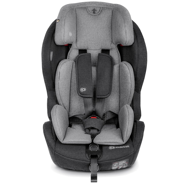 Kinderkraft SAFETYFIX ISOFIX Kindersitz Autokindersitz 9 bis 36 kg gruppe 1 2 3 (Dunkelblau) 4Kraft