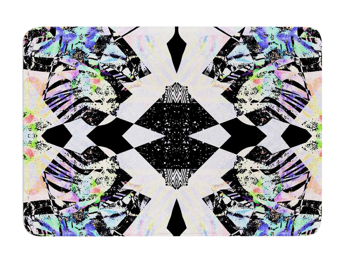 Kess InHouse Vasare NAR Abstract Zebra Black Lavender Memory Foam Bath Mat, 17 by 24-Inch, 17' X 24'