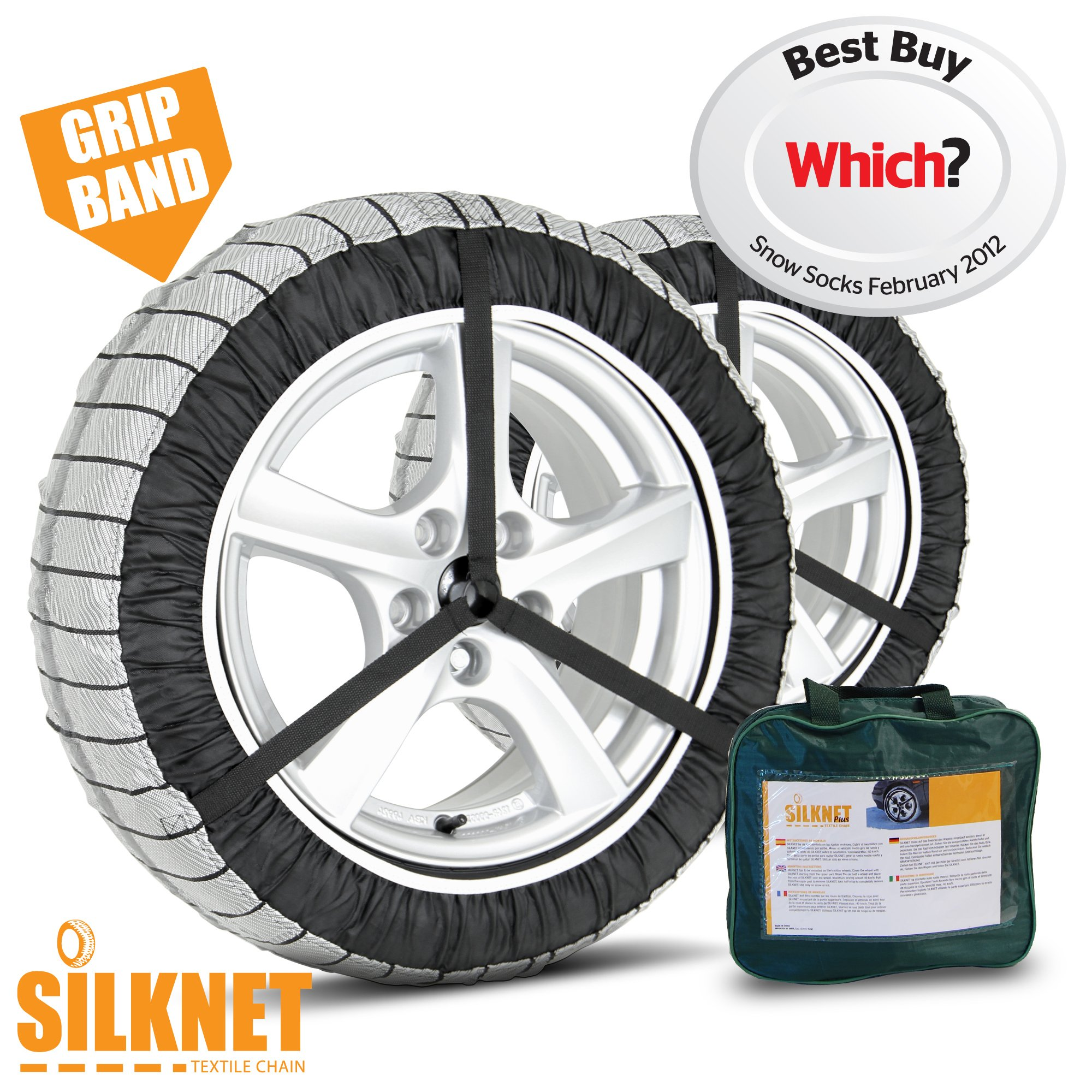 Silknet Snow Socks - Size 80 - Awarded 'Which Best Buy' - Universal To Fit 265/35 R19, 245/35 R20, 245/35 R21 and More