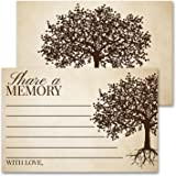 Deluxe Share A Memory Card Celebration of Life, Funeral Memorial Rememberance Service, Condolence Book, Retirement, Tree…