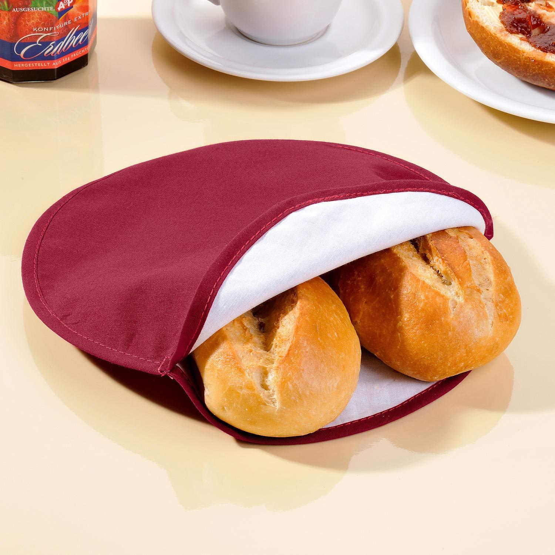 GKA Mikrowellen Aufw/ärmtasche Br/ötchenbeutel Br/ötchenw/ärmer Br/ötchentasche Brot Br/ötchen Croissant