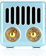Retro Radio Vintage Bluetooth Speaker FM Radio 800mAh Rechargeable Battery, with