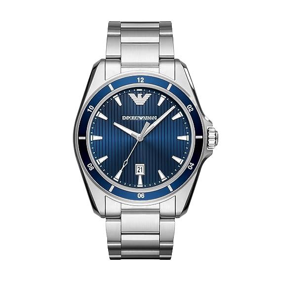 Emporio Armani Reloj Analogico para Hombre de Cuarzo con Correa en Acero Inoxidable AR11100: Amazon.es: Relojes