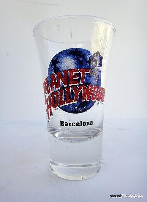 Barcelona España Planet Hollywood vidrio de tiro: Amazon.es: Hogar
